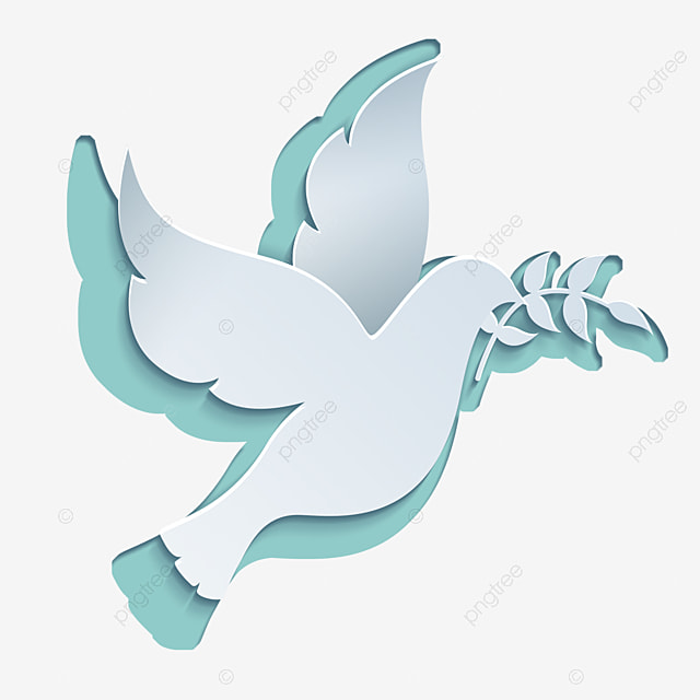 international day of peace abstract flat style white dove with olive branch