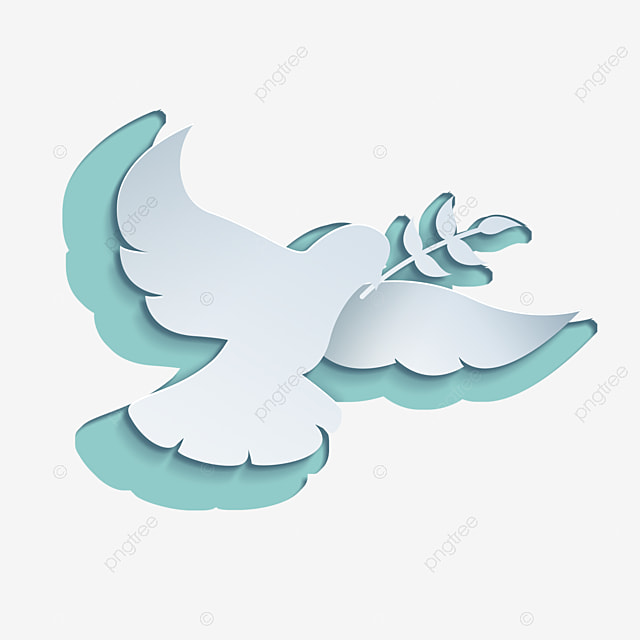 international day of peace abstract flat white dove with wings