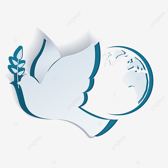 international day of peace abstract white dove and earth