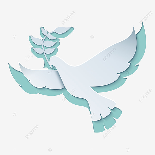 international day of peace abstract white dove holding an olive branch