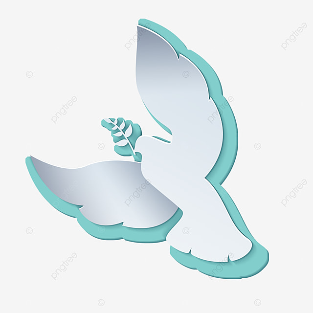 international day of peace green wings abstract white dove