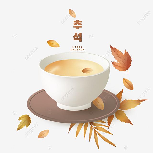 korean mid autumn festival and autumn eve scene