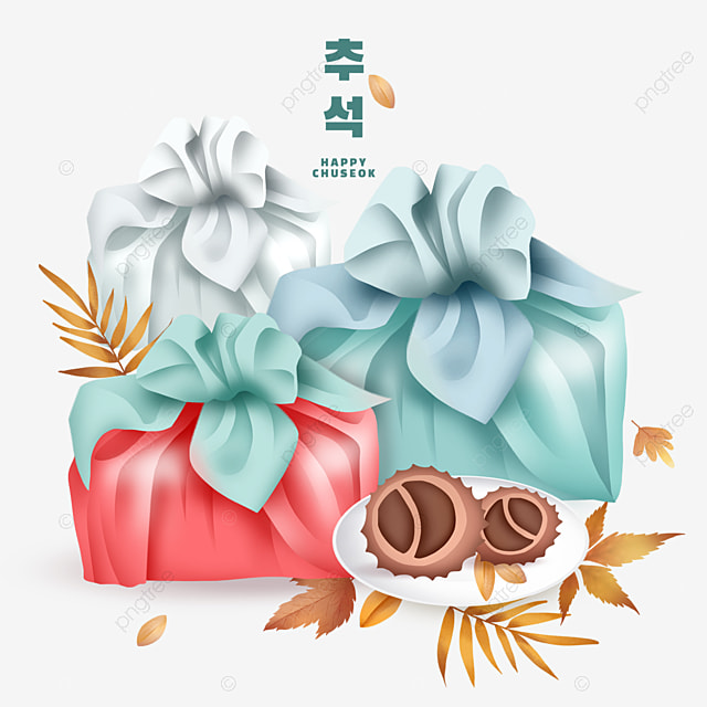 korean mid autumn festival colorful gifts