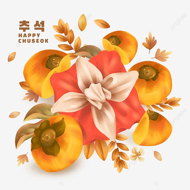 korean mid autumn festival red gift