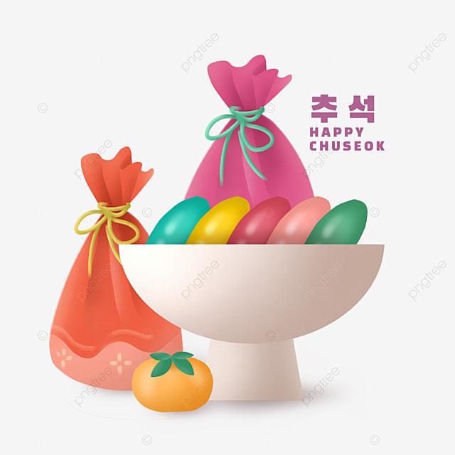korean mid autumn festival rice cake decoration
