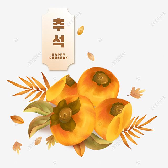 korean mid autumn festival yellow persimmon
