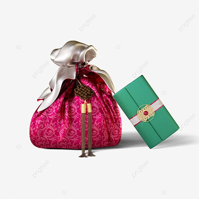 luxury gift box envelope 3d element
