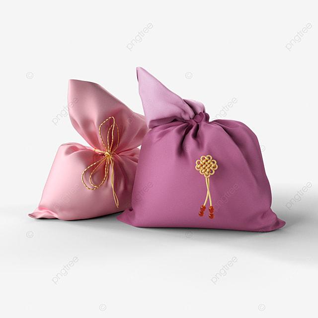 pink lucky bag 3d element