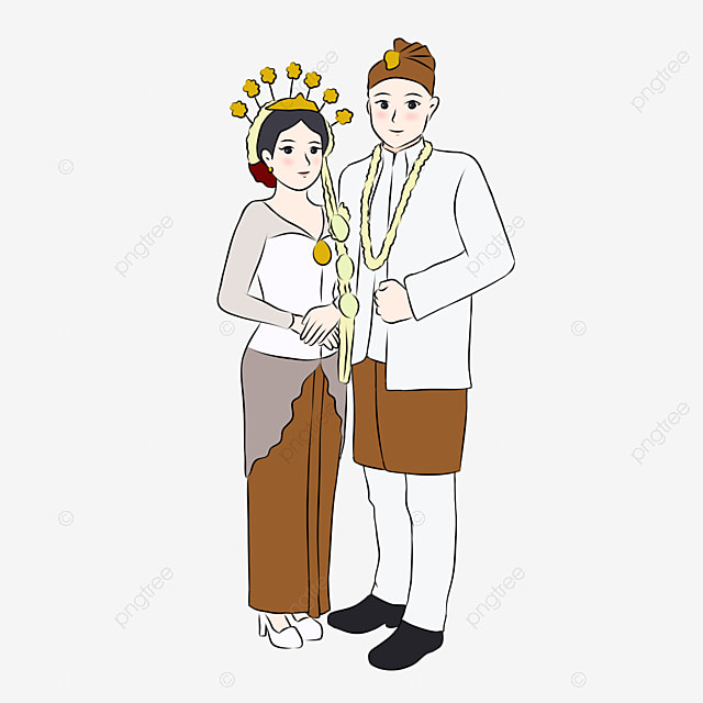 illustration of cute indonesian married couple wearing west java traditional wedding dress indonesia indonesian cute bride png transparent clipart image and psd file for free download https pngtree com freepng illustration of cute indonesian married couple wearing west java traditional wedding dress 5514948 html