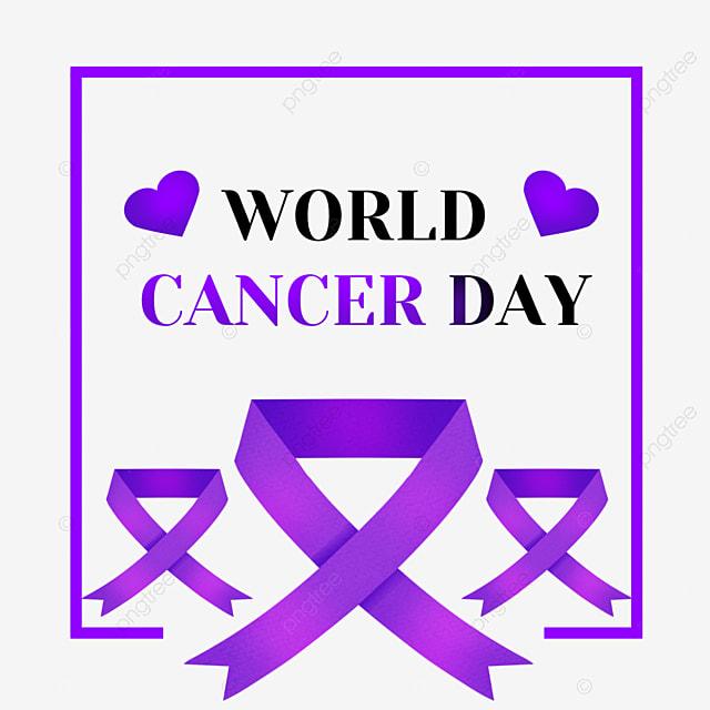 purple square world cancer day ribbon