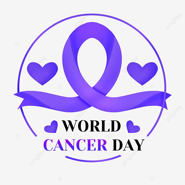 world cancer day love purple medical healing ribbon