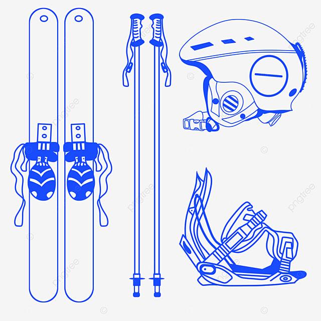 winter ski equipment elements