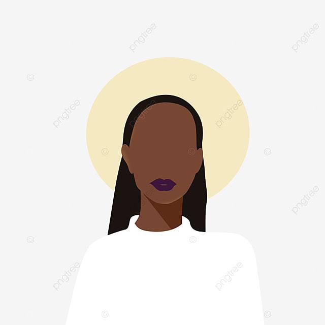 geometric color block black woman illustration element