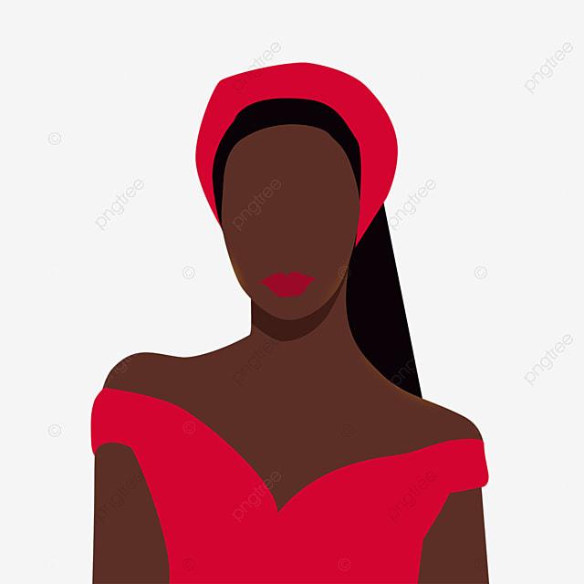 red turban black woman illustration element