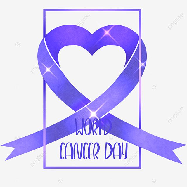 shining world cancer day ribbon