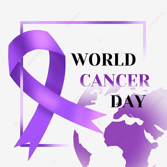 world cancer day earth ribbon