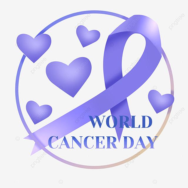 world cancer day gradient ribbon