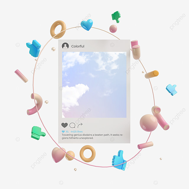abstract graphic ins social interface like 3d element