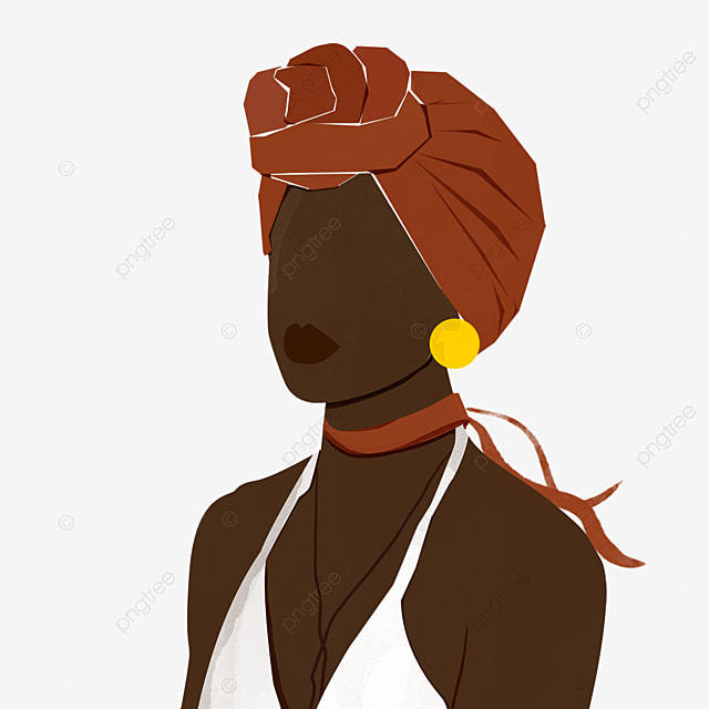 black woman black simple brown skin silhouette illustration