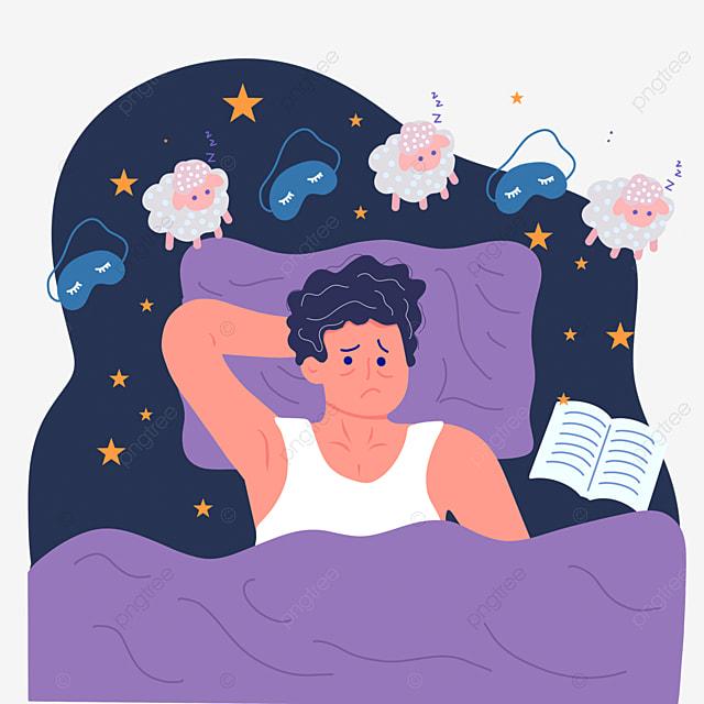 hand drawn night insomnia book illustration