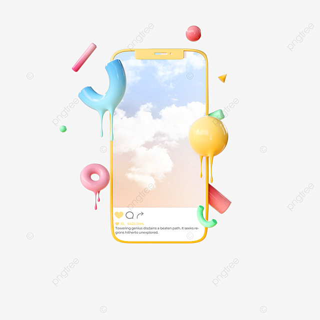 melting abstract graphics ins mobile phone like 3d elements