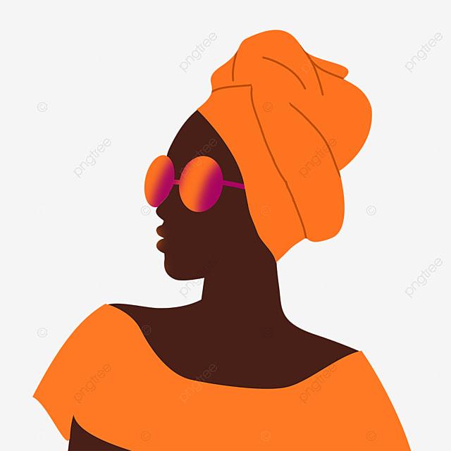 black women fashion glasses illustration elements