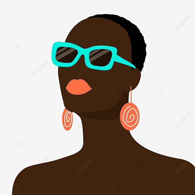 fashion accessories black women illustration elements