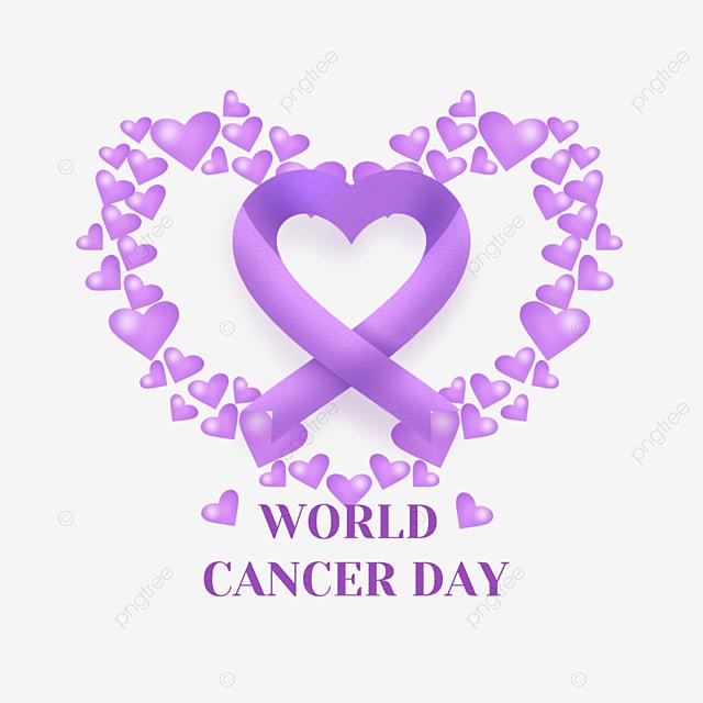 world cancer day love ribbon