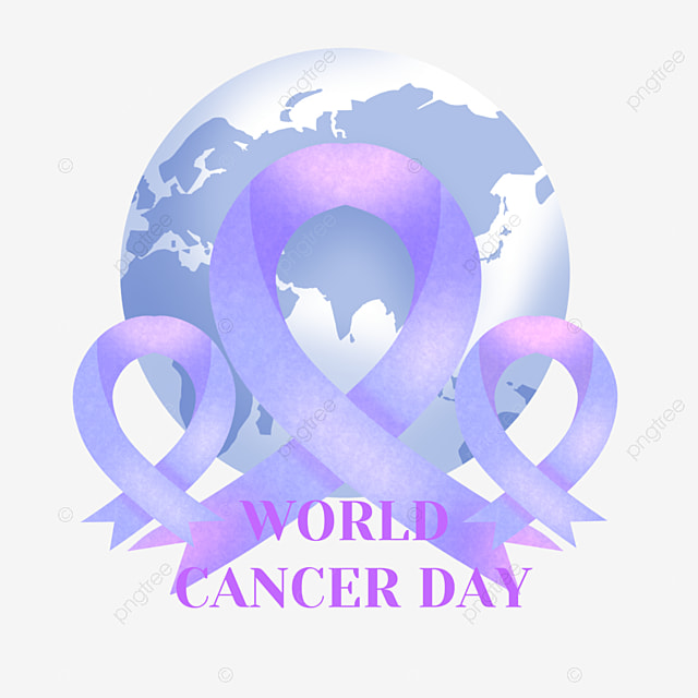 purple world cancer day ribbon