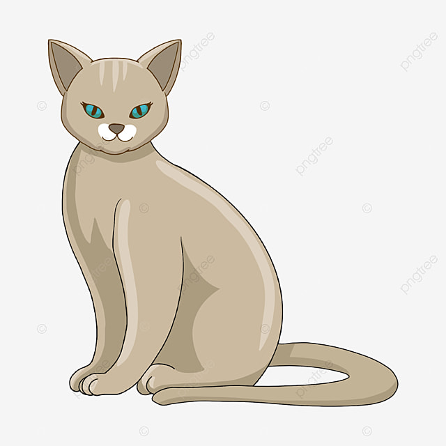 Cartoon Hand Drawn Gray Hairless Cat Clipart Hairless Cat Cartoon Hand Painted Png Transparent Clipart Image And Psd File For Free Download