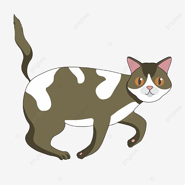 gambar clipart kucing kartun coklat yang dilukis dengan tangan coklat kaki kucing png dan psd untuk muat turun percuma pngtree