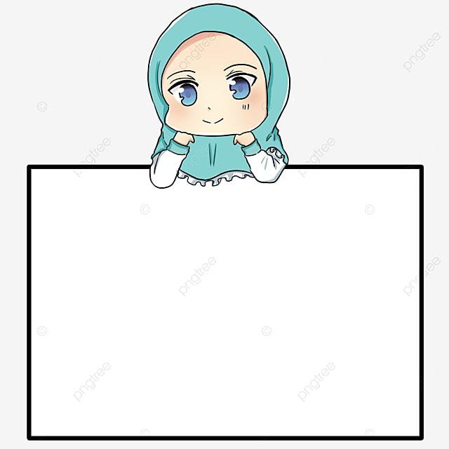 Gambar Kartun Cewek Muslim Biru Gambar Anak Muslim Muslim Yang Comel Muslim Kecil Png Dan Psd Untuk Muat Turun Percuma