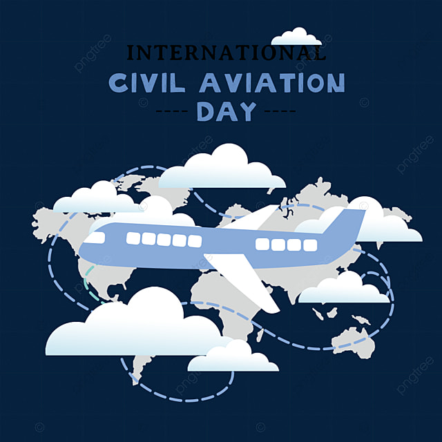 cartoon hand drawn international civil aviation day