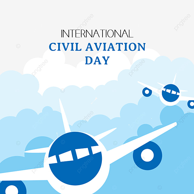 concise blue international civil aviation day