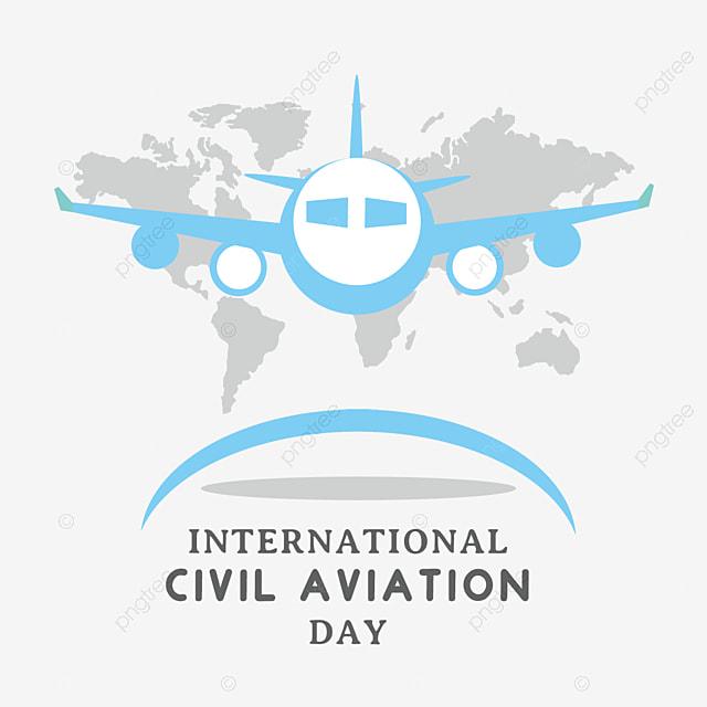 flat style international civil aviation day