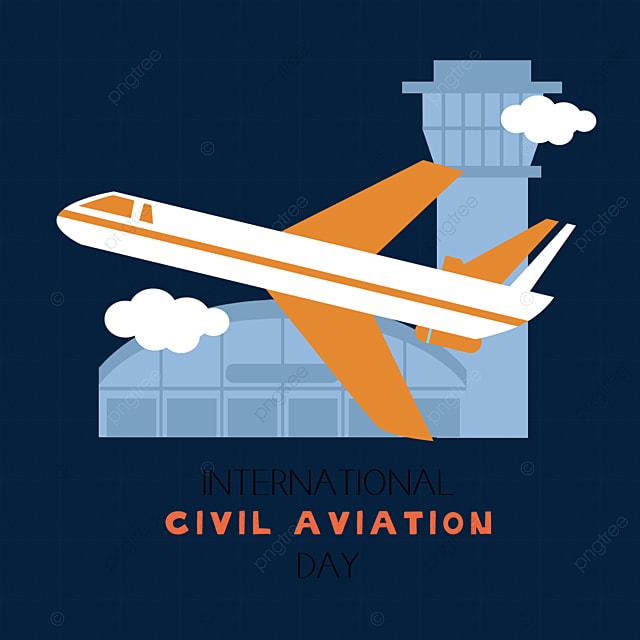 hand drawn take off international civil aviation day