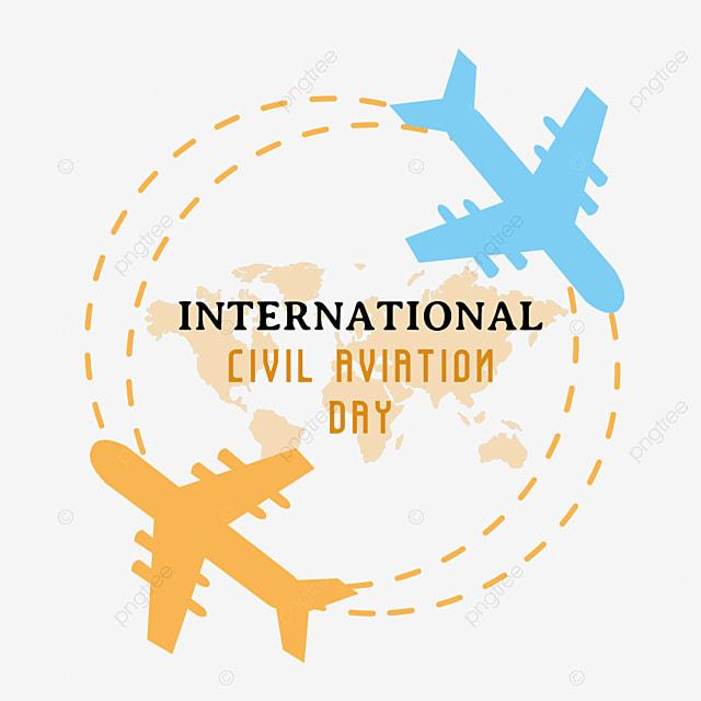 hand painted minimalist international civil aviation day