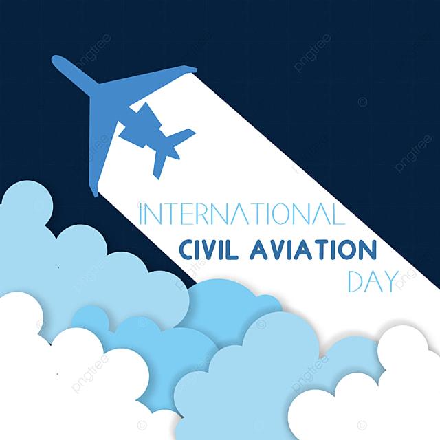 paper cut style international civil aviation day