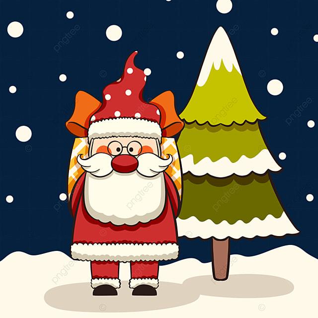 christmas hand drawn santa elements