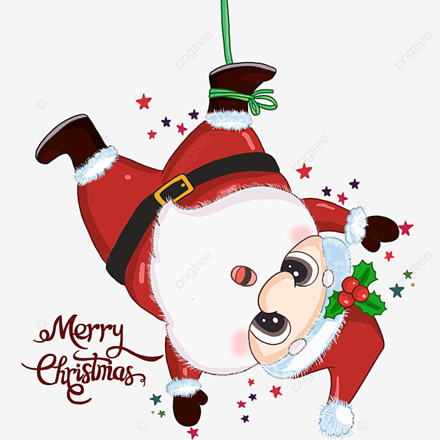 Funny Santa Claus Upside Down Santa Claus Lovely Kawaii Png Transparent Clipart Image And Psd File For Free Download