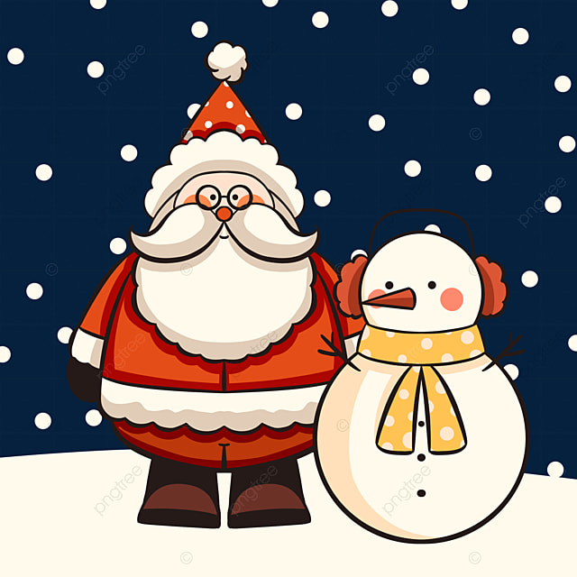 red cute style santa claus elements