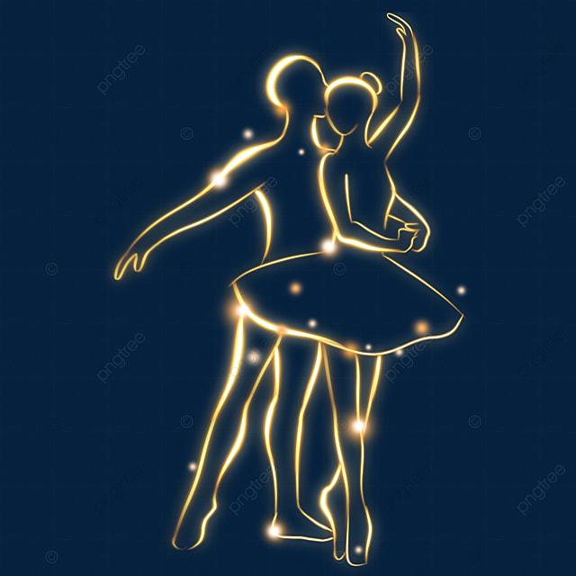 abstract light effect ballet men and women