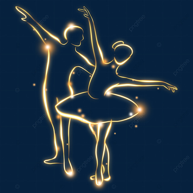 abstract light effect ballet movement