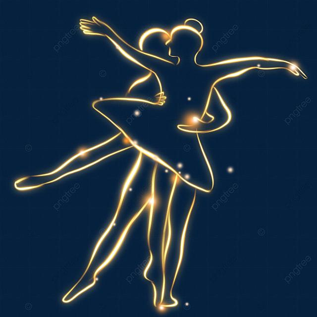 abstract light effect ballet performance