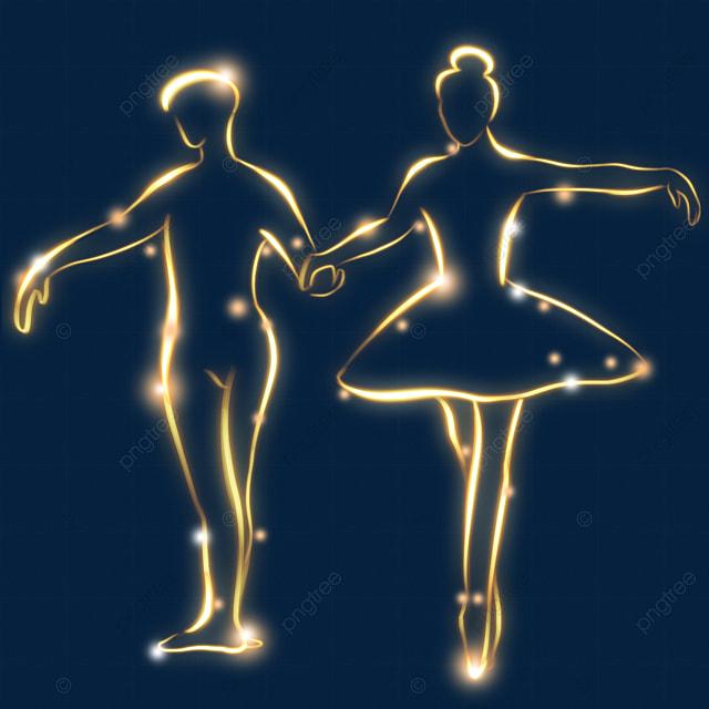 creative light effect ballet figure