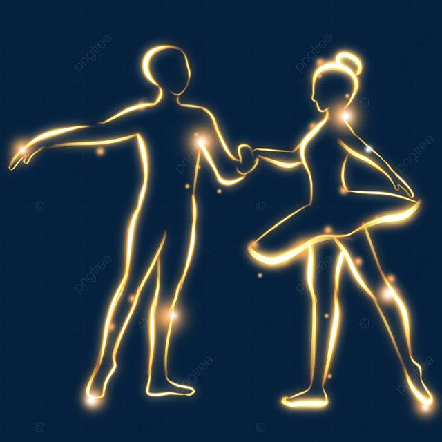 creative light effect classical dance figures