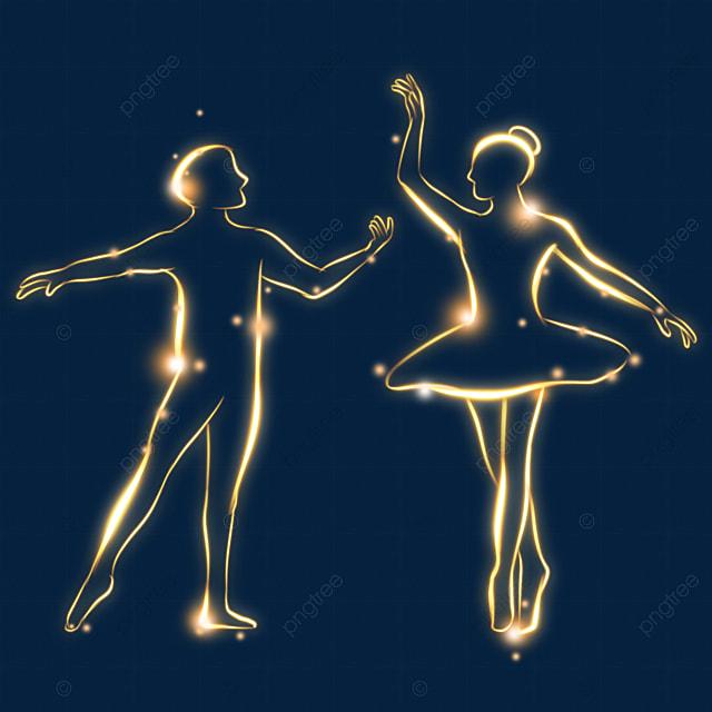golden light effect double ballet movement