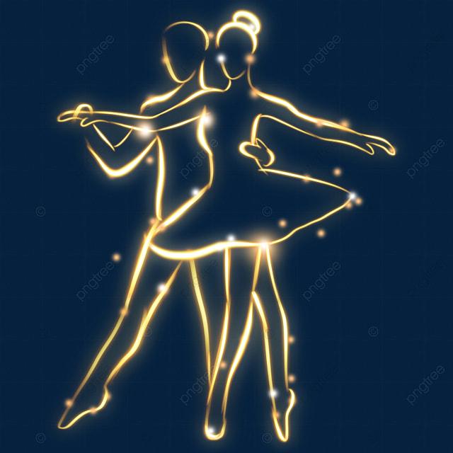 golden light effect romantic ballet