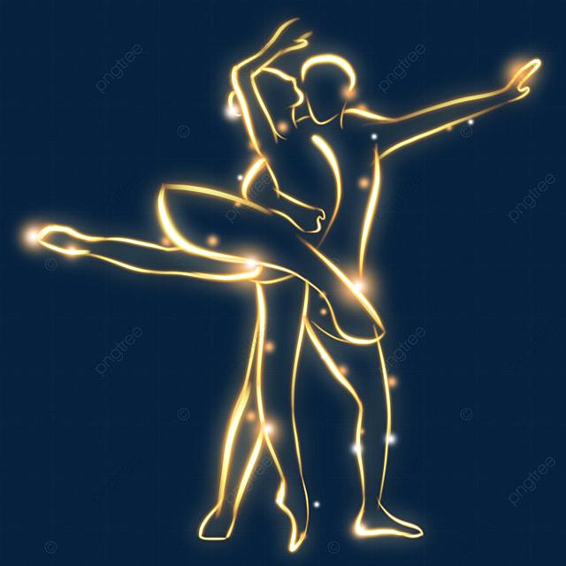 golden shiny effect ballerina