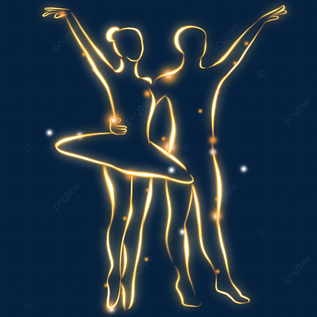 light effect abstract duo ballet